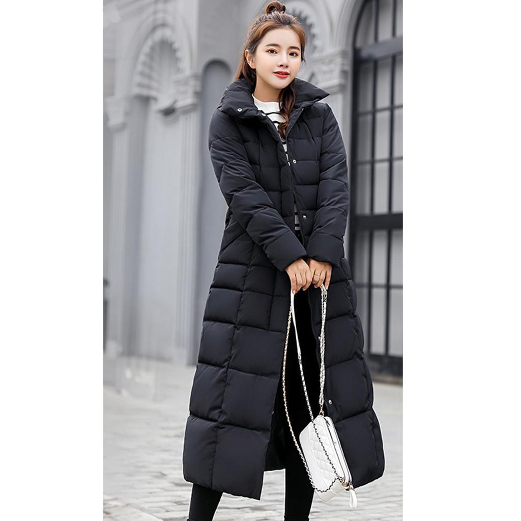 miniature 33 - Manteau long en duvet pour femmes avec col en fausse fourrure Veste matelassée