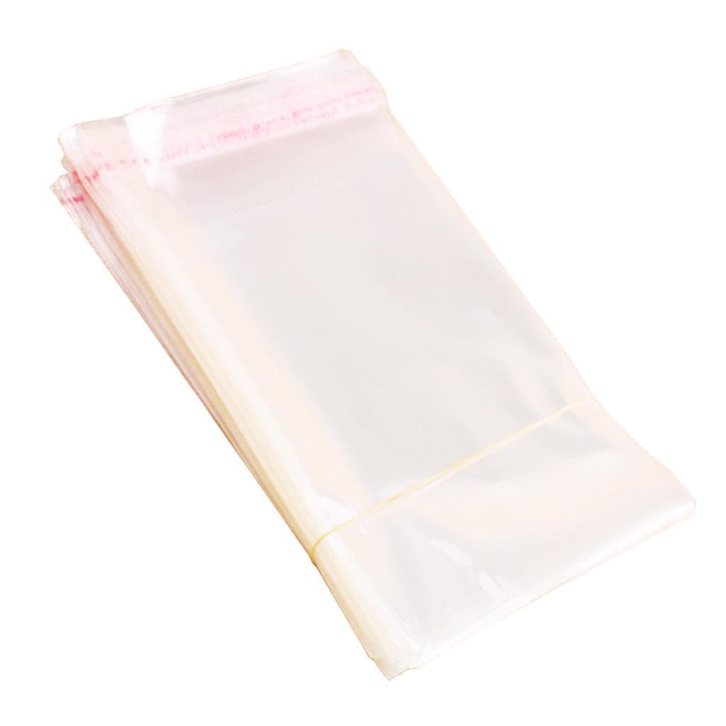 miniatura 13 - 200pcs chiaro CELLOPHANE plastica OPP BUSTINA autosigillante per sapone,