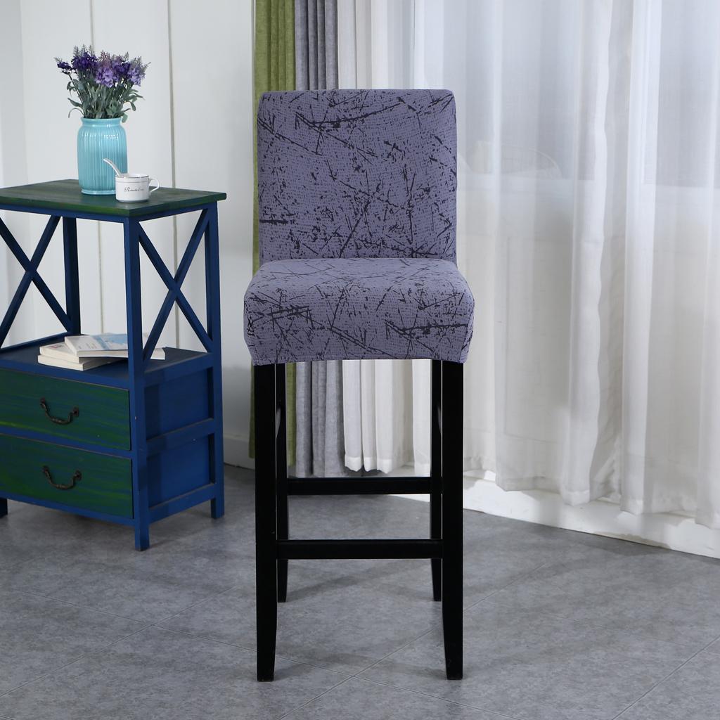 miniature 2 - Housse De Chaise Courte à Dossier Bas, Hauteur De Comptoir, Tabouret B_Gray