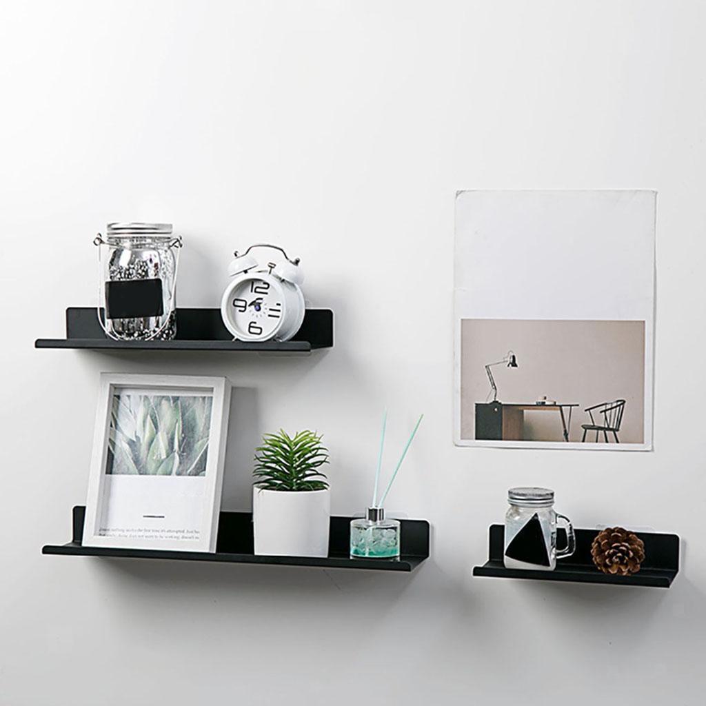 miniatura 27 - In Acciaio al carbonio Mensola Mobile per la Casa Dell'organizzatore