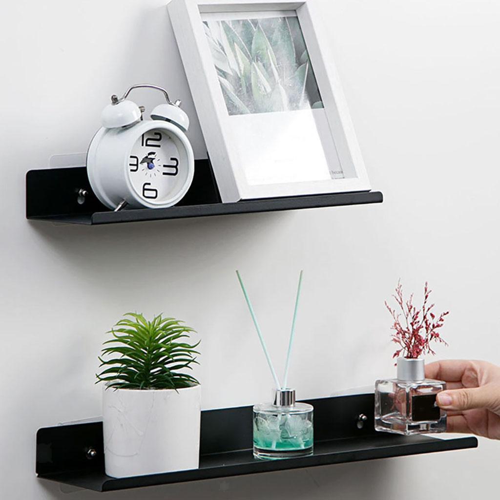 miniatura 30 - In Acciaio al carbonio Mensola Mobile per la Casa Dell'organizzatore