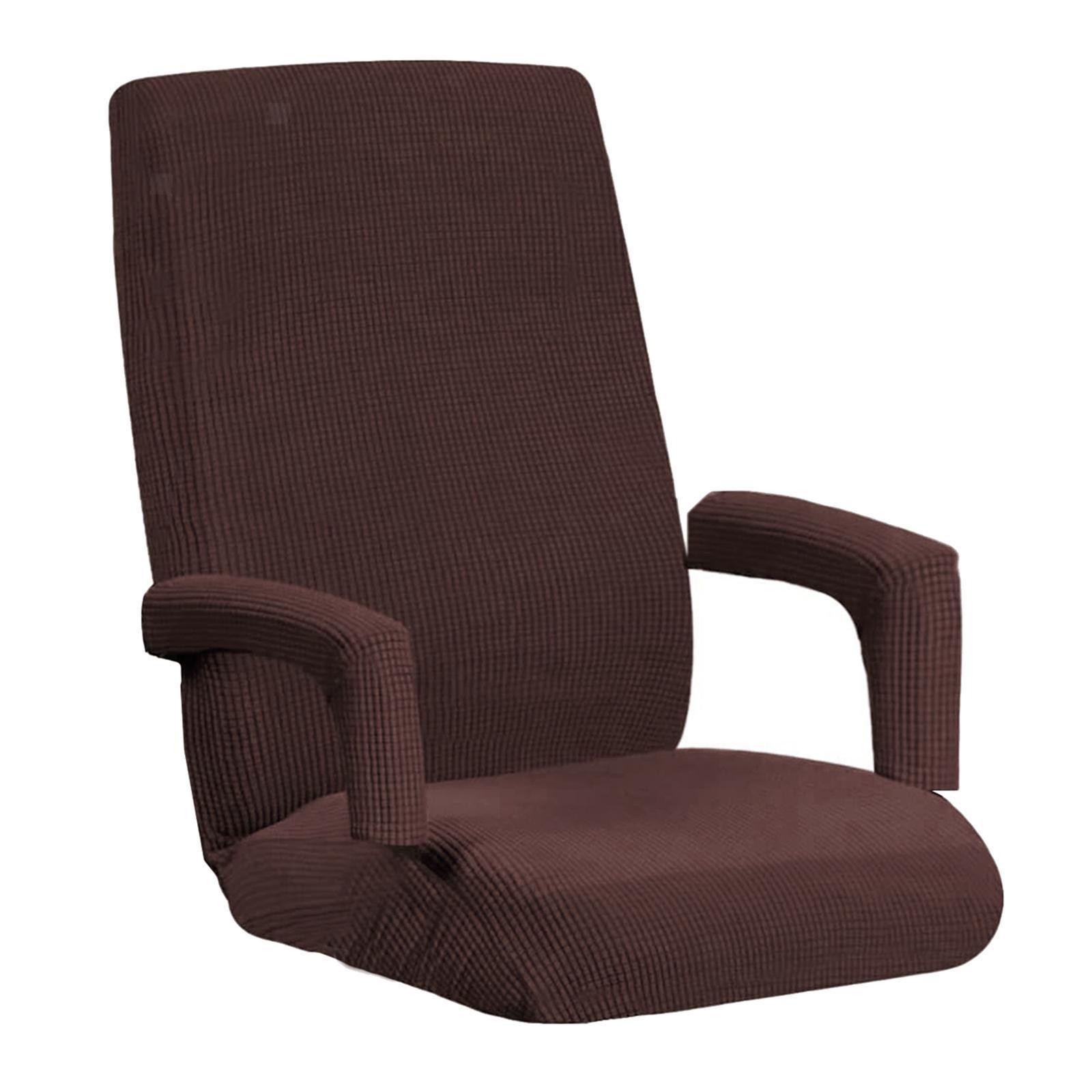miniature 37 - Housses de chaise de bureau contemporaines à dossier haut et 2 housses de bras
