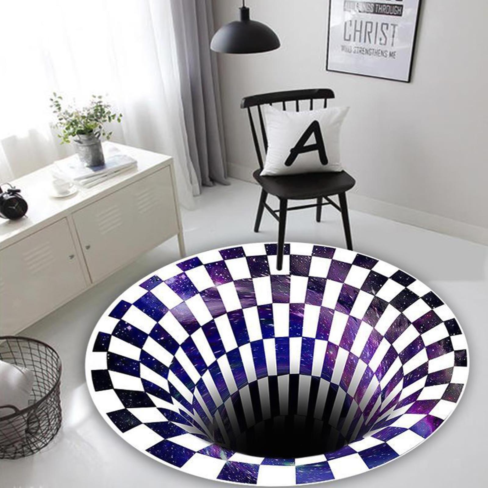 miniatura 4 - Tappetino-per-tappetino-antiscivolo-con-motivo-a-vortice-rotondo-3D