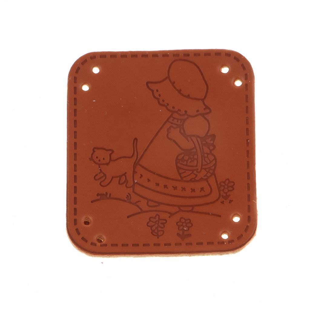 miniatura 15 - Etichette in pelle PU da 20 pezzi per cucire toppe per vestiti Artigianato fatto