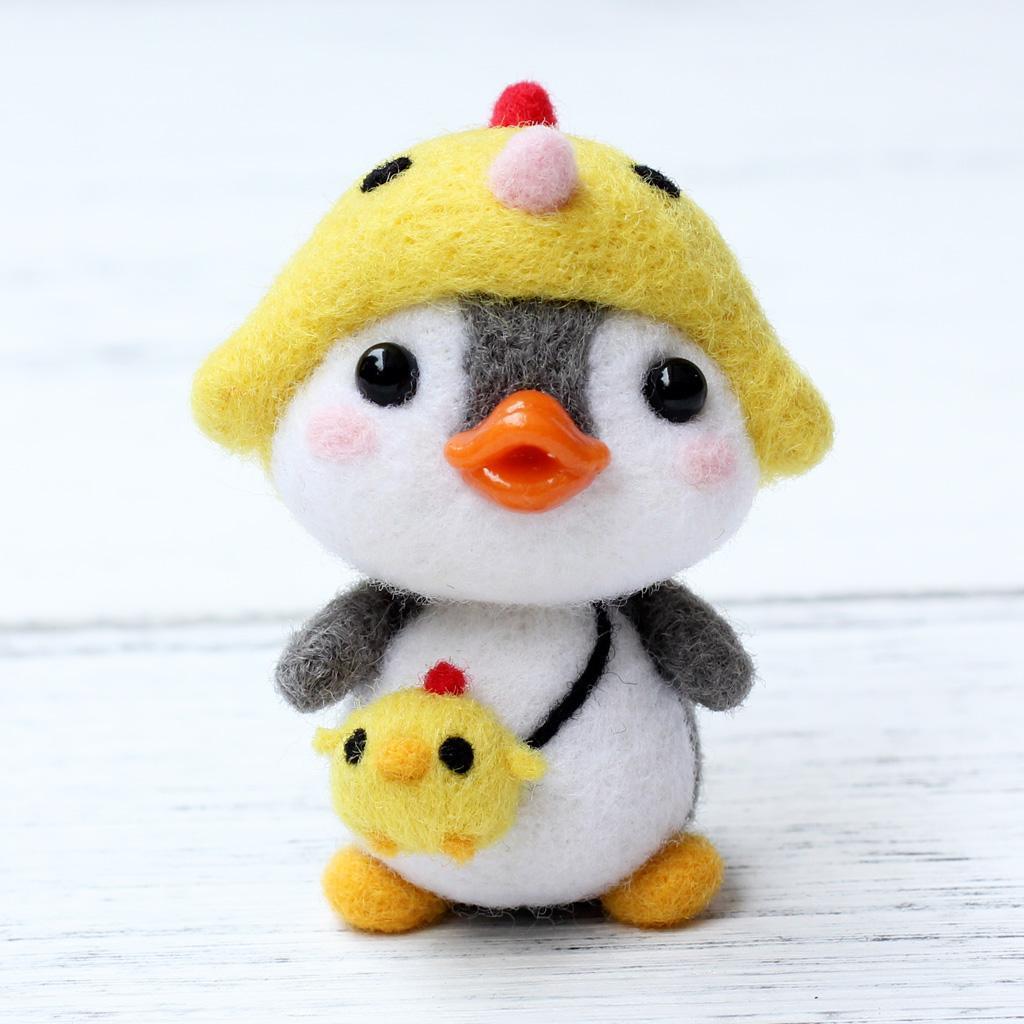Filztier Pinguin Shiba Hellery Trockenfilzen Filznadeln Penguin Filzen Starterset mit Filzwolle f/ür Anf/änger DIY Handwerk