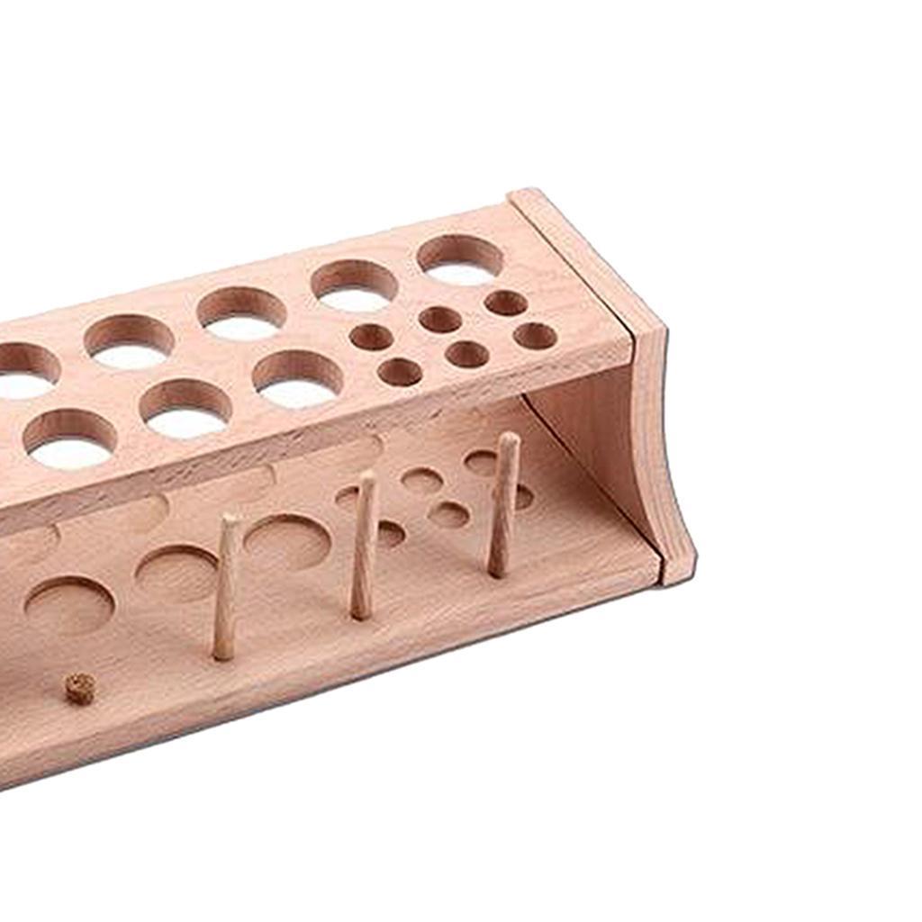 Leder-Halter-Werkzeug-Holz-Punch-Handwerk-Werkzeug-Rack-Leathercraft-Stand Indexbild 4