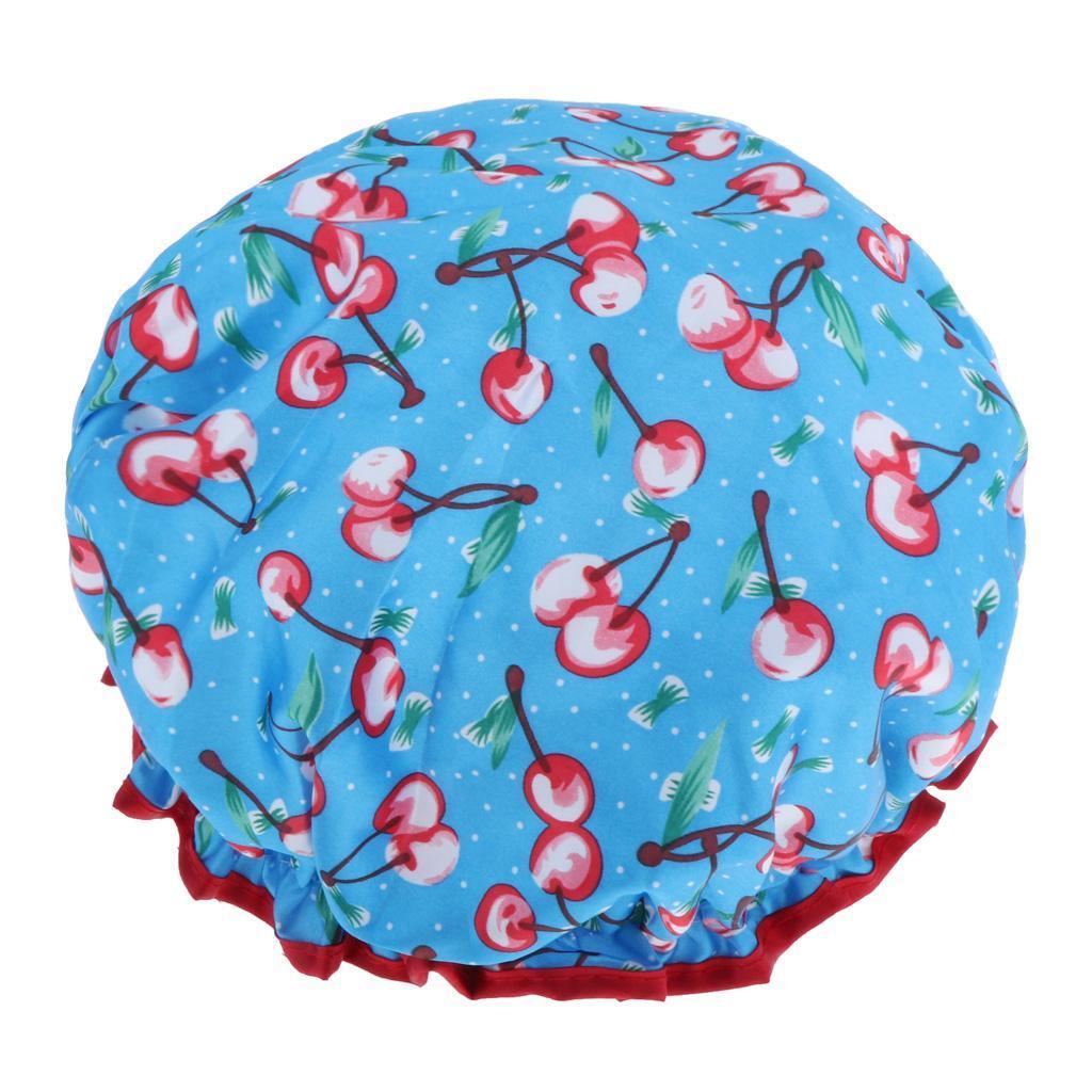 Bonnets-de-Douche-Impermeables-et-Reutilisables-pour-Femmes-Double-Couche-Spa miniature 4