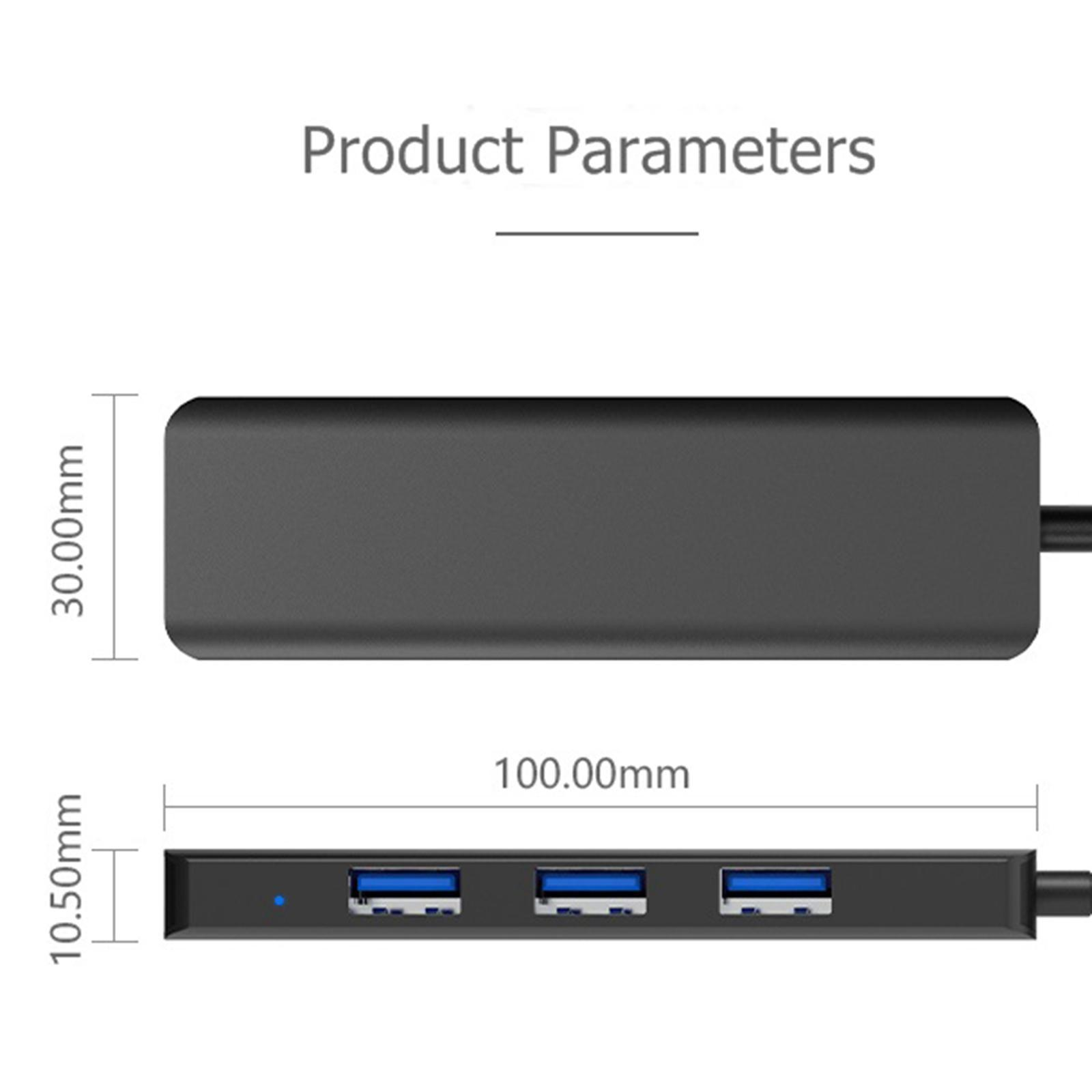 Multi-dans-1-type-C-Portable-Docking-station-USB-3-0-HDMI-PD-invite-Hub-pour-Macbook miniature 95