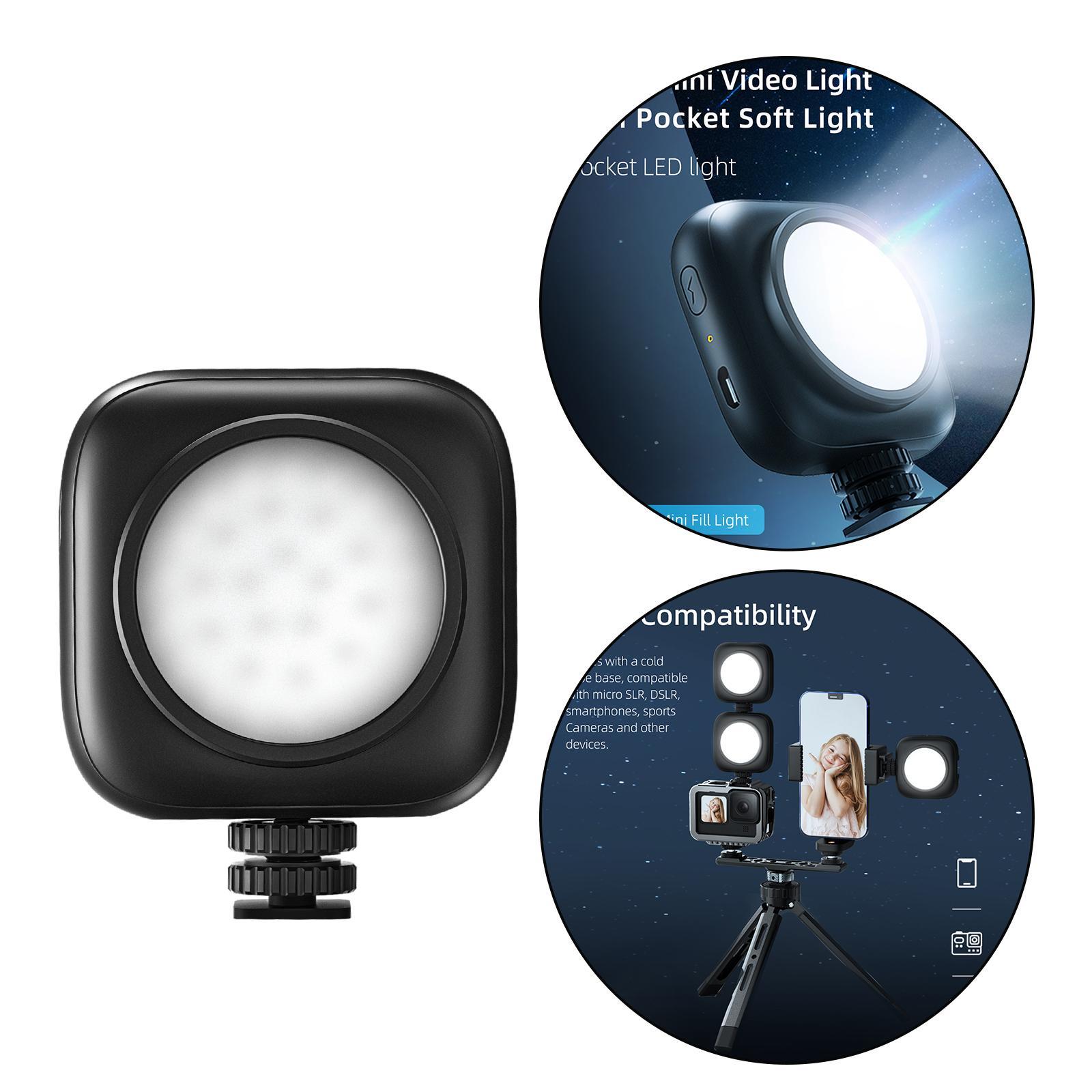 500mAh Portable Adjustable Video Fill Light for Vlog DSLR Camera Mobile