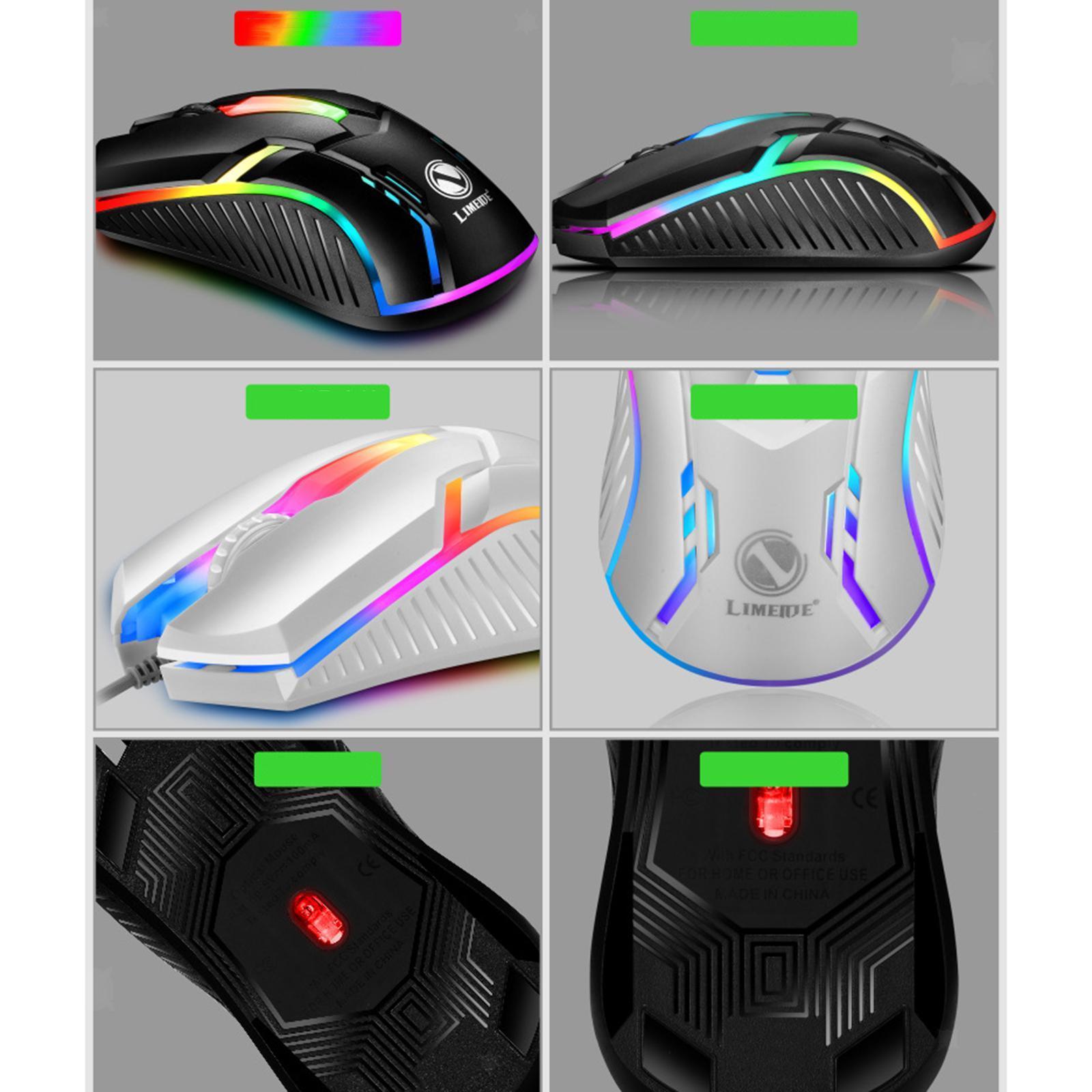 miniatura 23 - Mouse da gioco cablato luminoso USB E-Sports Mouse da gioco per PC 2400 DPI