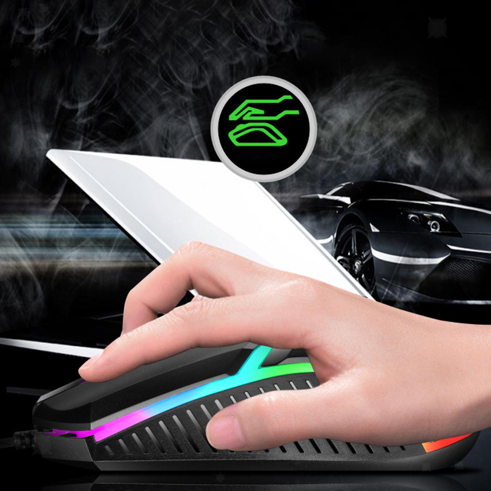 miniatura 19 - Mouse da gioco cablato luminoso USB E-Sports Mouse da gioco per PC 2400 DPI