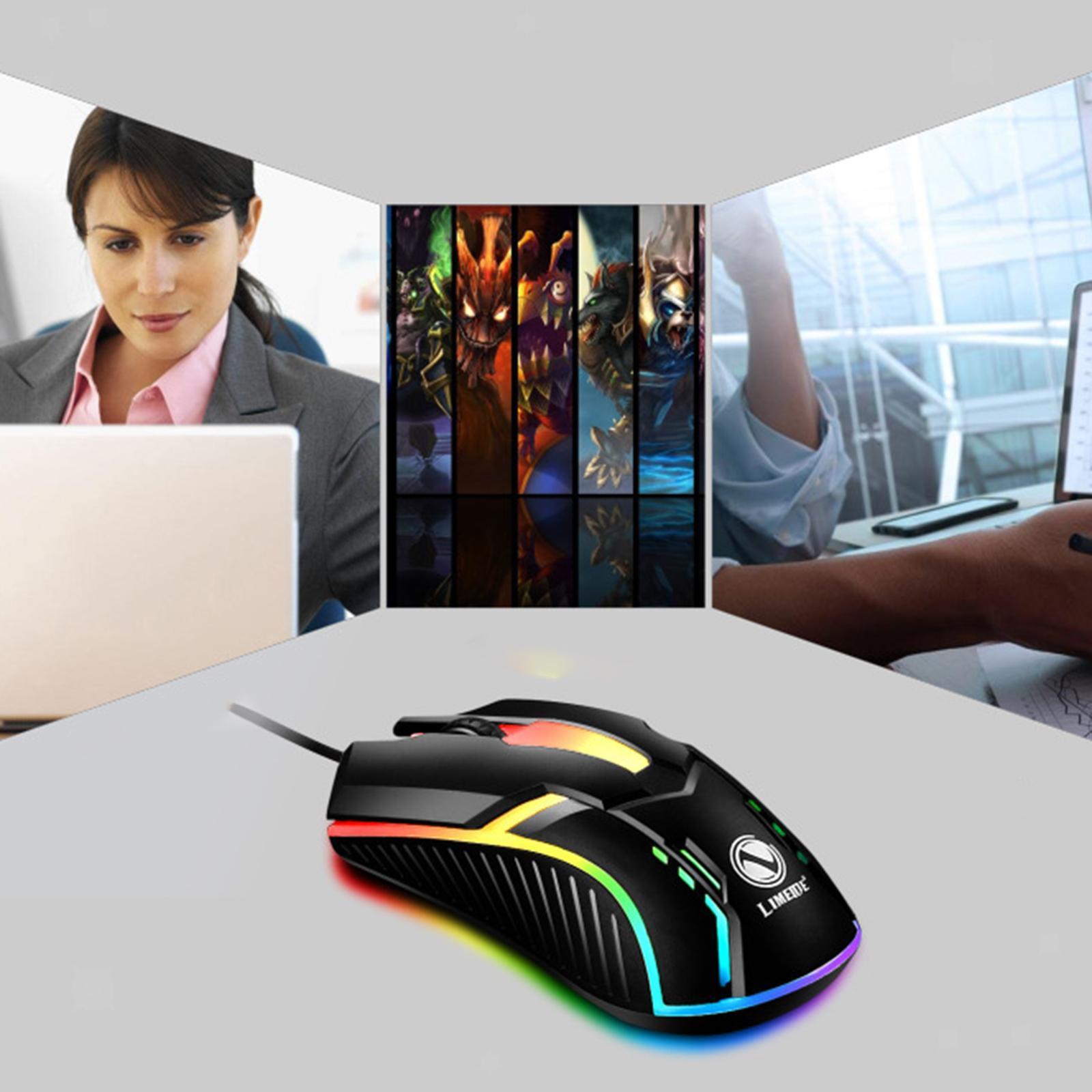 miniatura 16 - Mouse da gioco cablato luminoso USB E-Sports Mouse da gioco per PC 2400 DPI