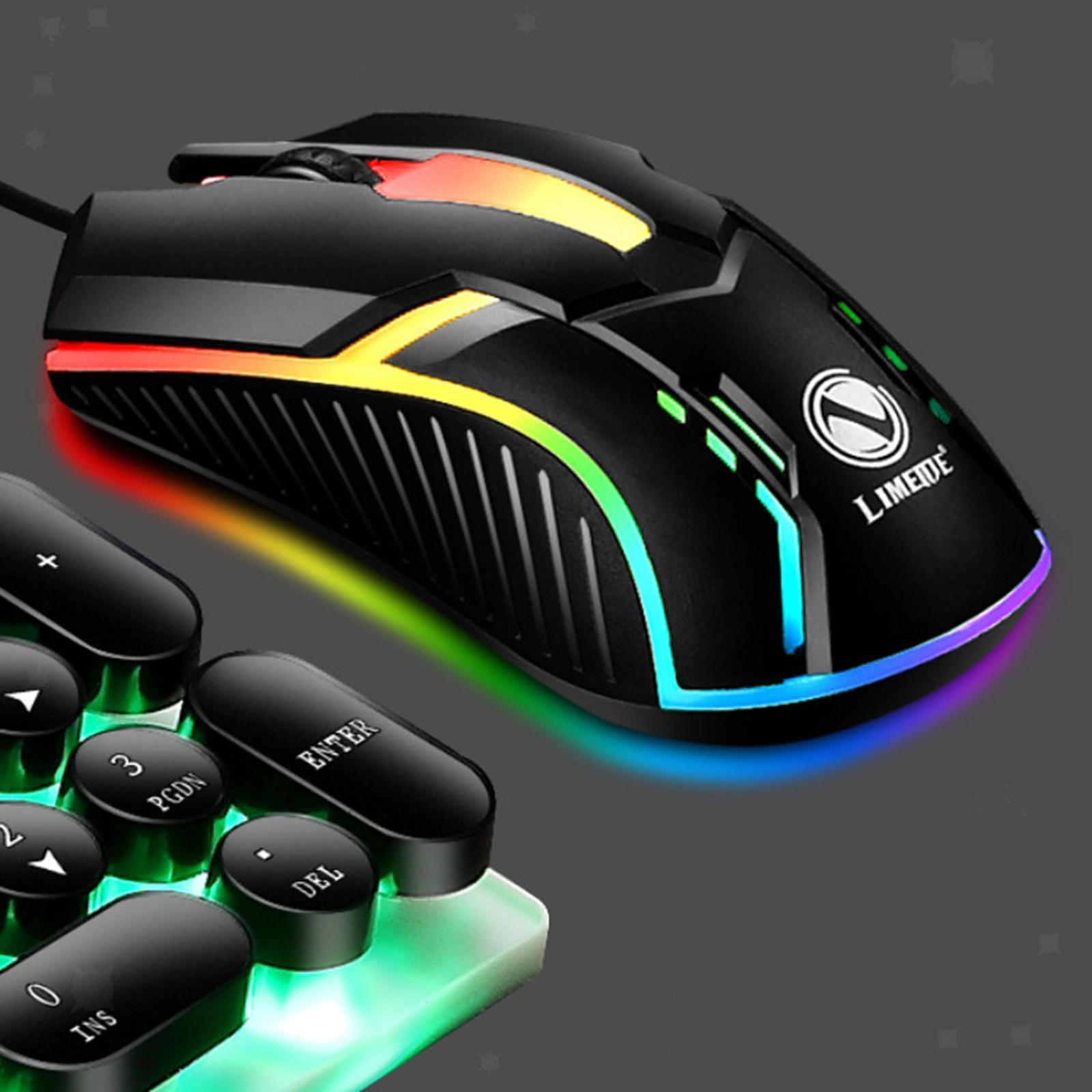 miniatura 22 - Mouse da gioco cablato luminoso USB E-Sports Mouse da gioco per PC 2400 DPI