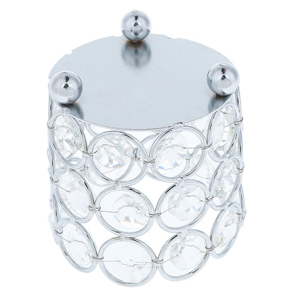 Crystal-Candle-Holder-Tealight-Candlestick-Decorative-Ornament-for-Wedding-Party thumbnail 4