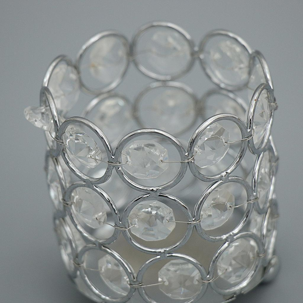 Crystal-Candle-Holder-Tealight-Candlestick-Decorative-Ornament-for-Wedding-Party thumbnail 3