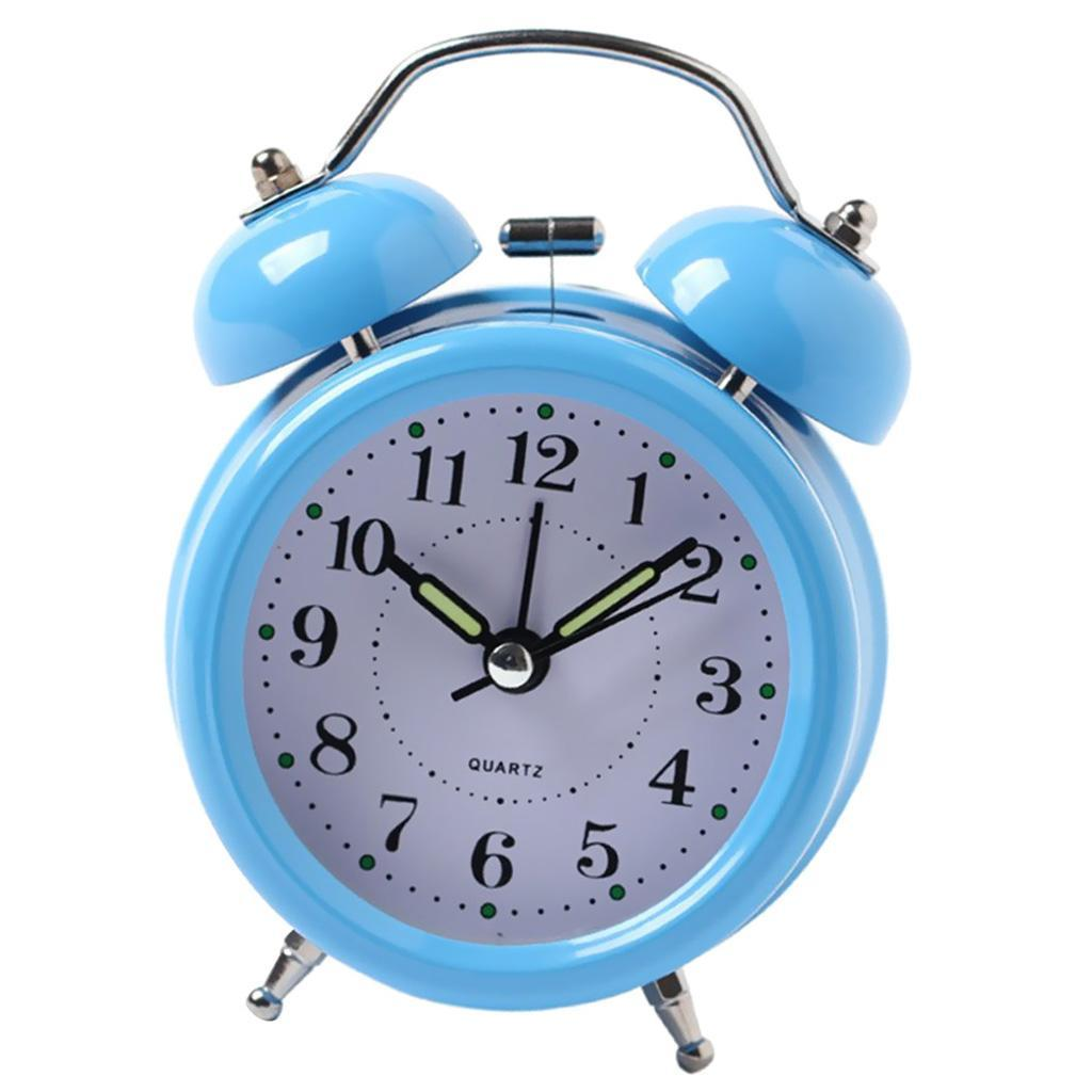 3inch-Travel-Non-ticking-Bedside-Alarm-Clock-Battery-Twin-Bell-Loud-Chime-Clock thumbnail 17