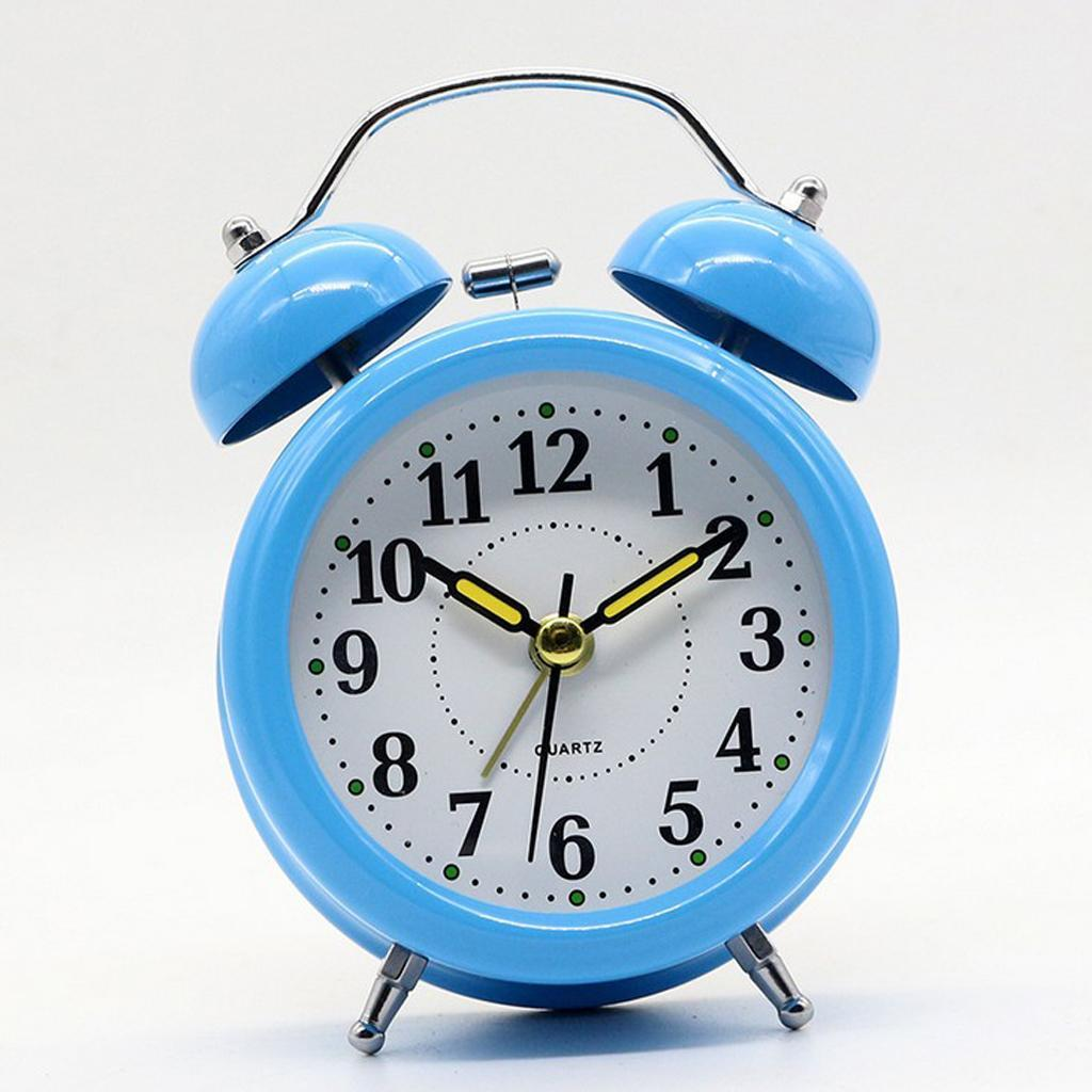 3inch-Travel-Non-ticking-Bedside-Alarm-Clock-Battery-Twin-Bell-Loud-Chime-Clock thumbnail 18