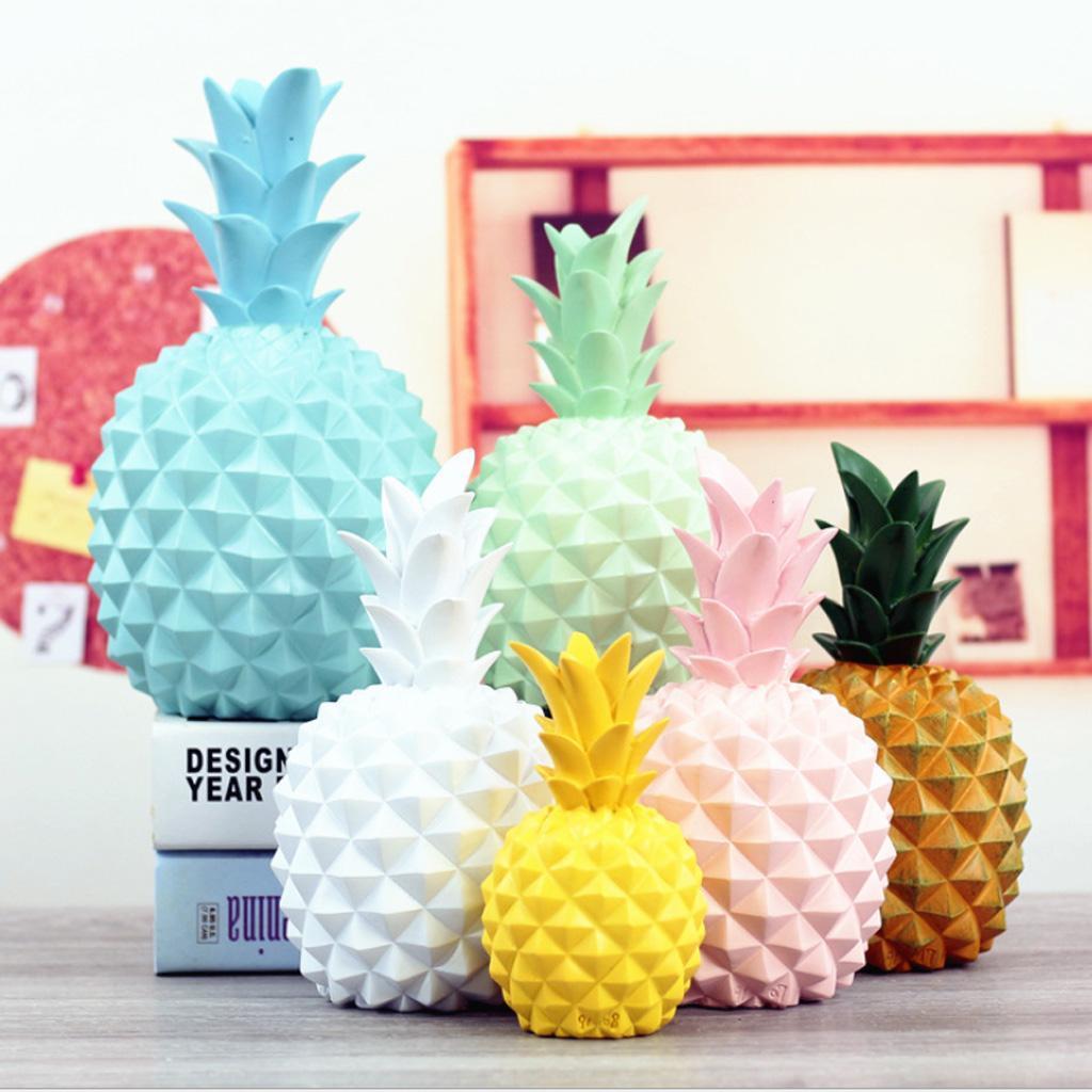 miniatura 4 - Resina A Forma Di Ananas Figurine Manufatti Per Arredamento Salvadanai