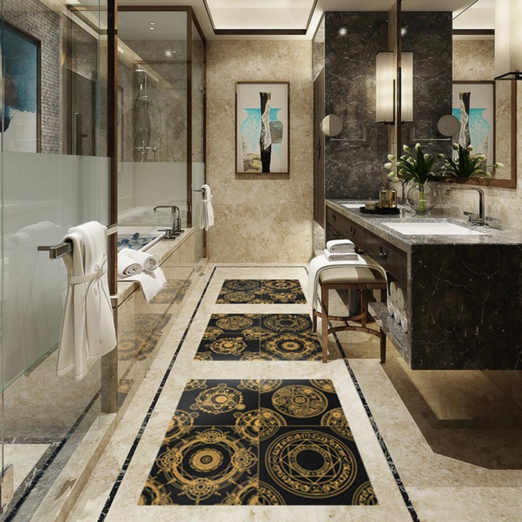 Vinyl-Wall-Tile-Stickers-Decals-Kitchen-Bathroom-Home-Decor-60x60cm thumbnail 20