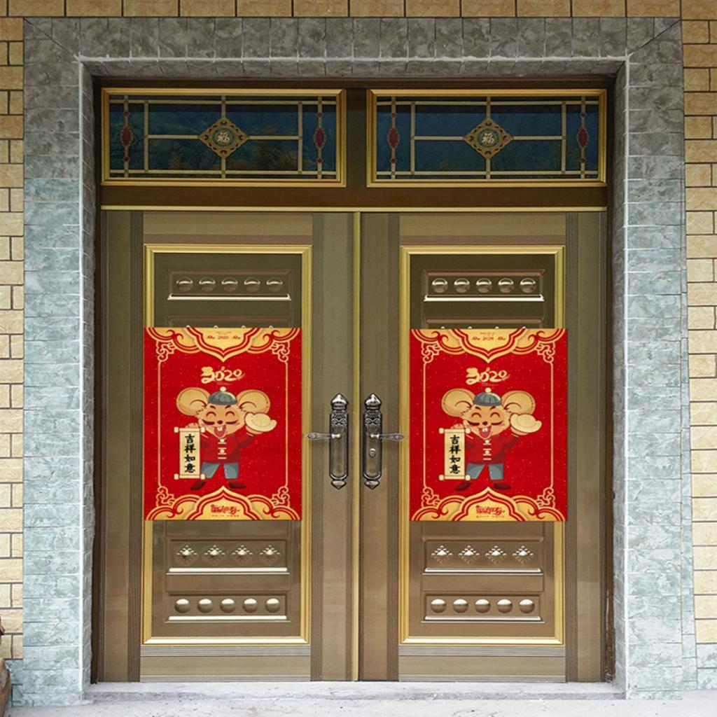 2020-Chinese-New-Year-Vinyl-Sticker-Self-adhesive-Home-Door-Sticker-Removable thumbnail 11