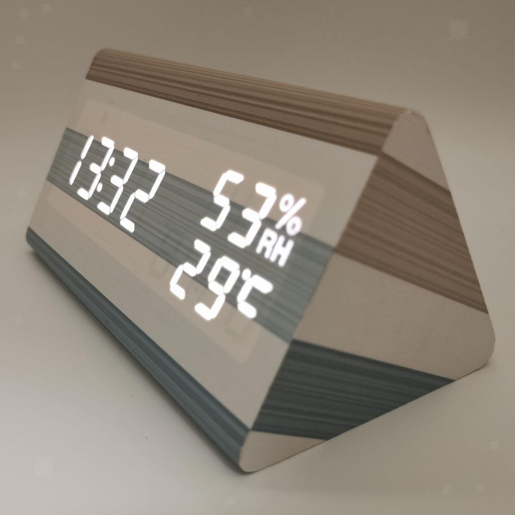 Sveglia-digitale-a-LED-sveglia-USB-batteria-luminosita-regolabile-a-tre miniatura 3