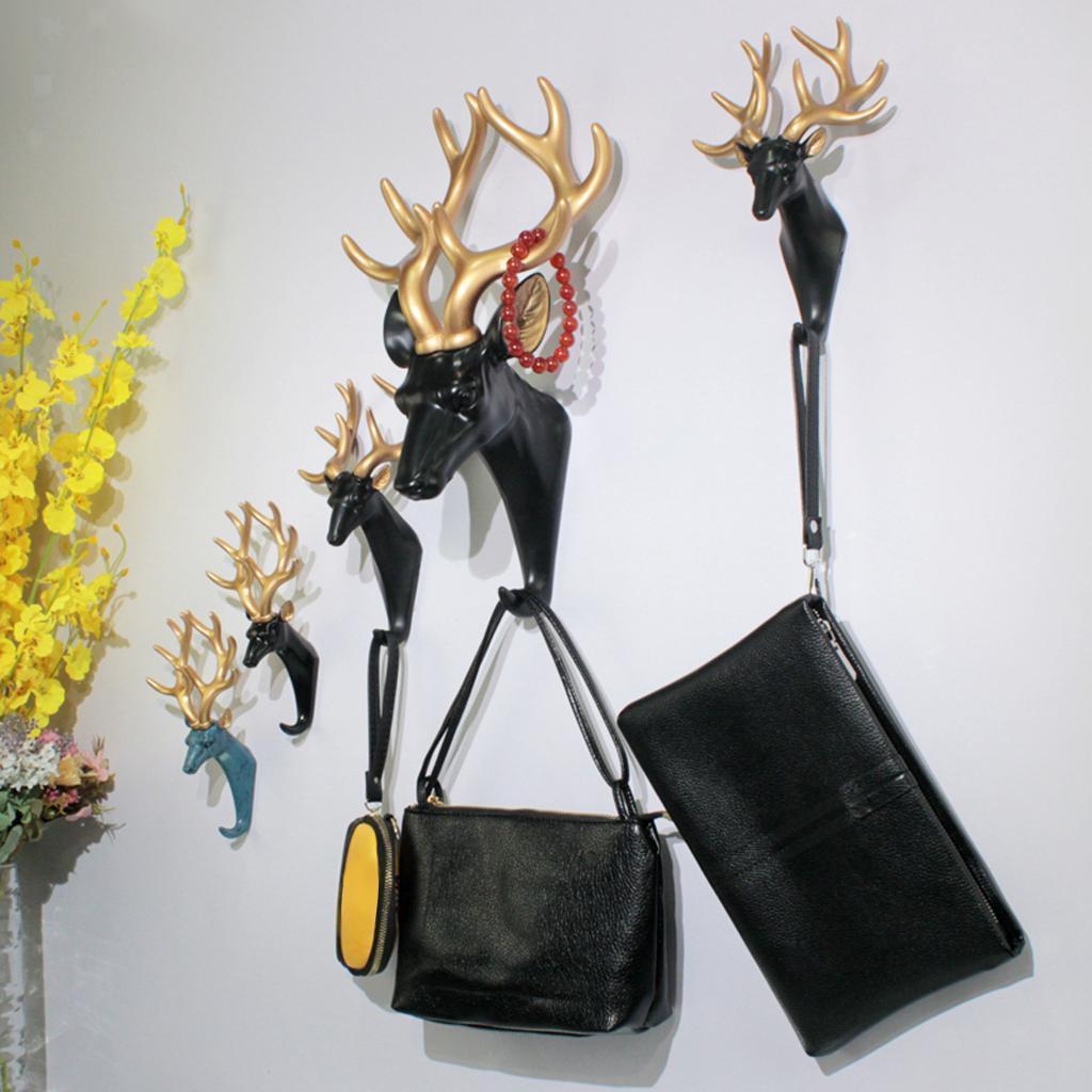 Casa-Decorativo-Scultura-A-Parete-di-Testa-di-Animale-Gancio-Mestiere-Della miniatura 9