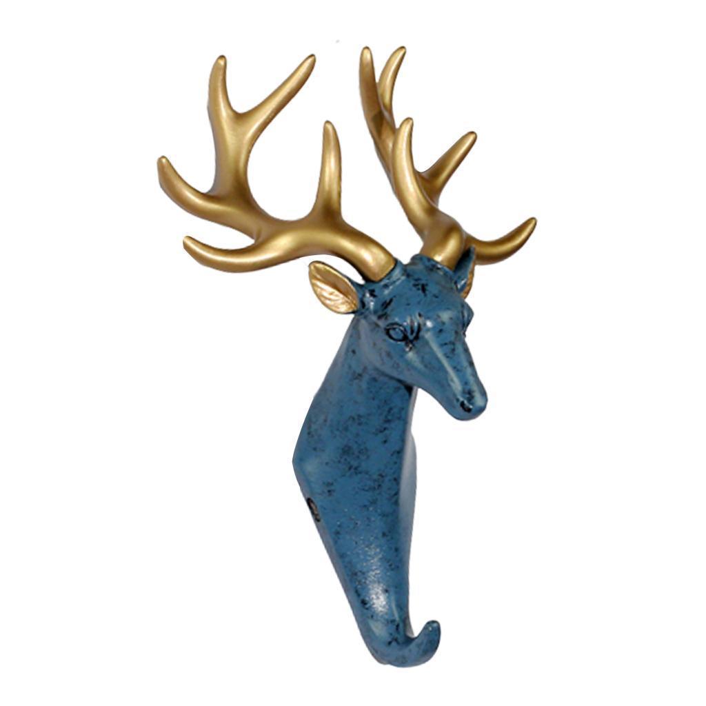 Casa-Decorativo-Scultura-A-Parete-di-Testa-di-Animale-Gancio-Mestiere-Della miniatura 4