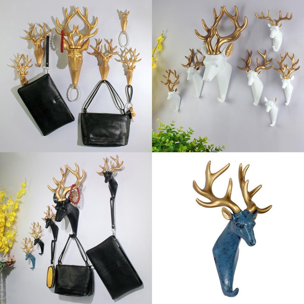 Casa-Decorativo-Scultura-A-Parete-di-Testa-di-Animale-Gancio-Mestiere-Della miniatura 7