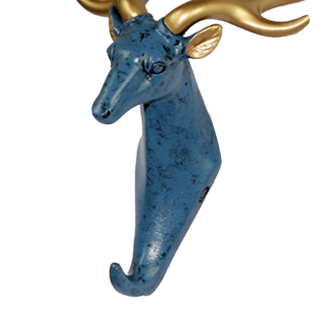 Casa-Decorativo-Scultura-A-Parete-di-Testa-di-Animale-Gancio-Mestiere-Della miniatura 11