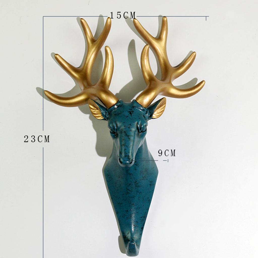Casa-Decorativo-Scultura-A-Parete-di-Testa-di-Animale-Gancio-Mestiere-Della miniatura 12