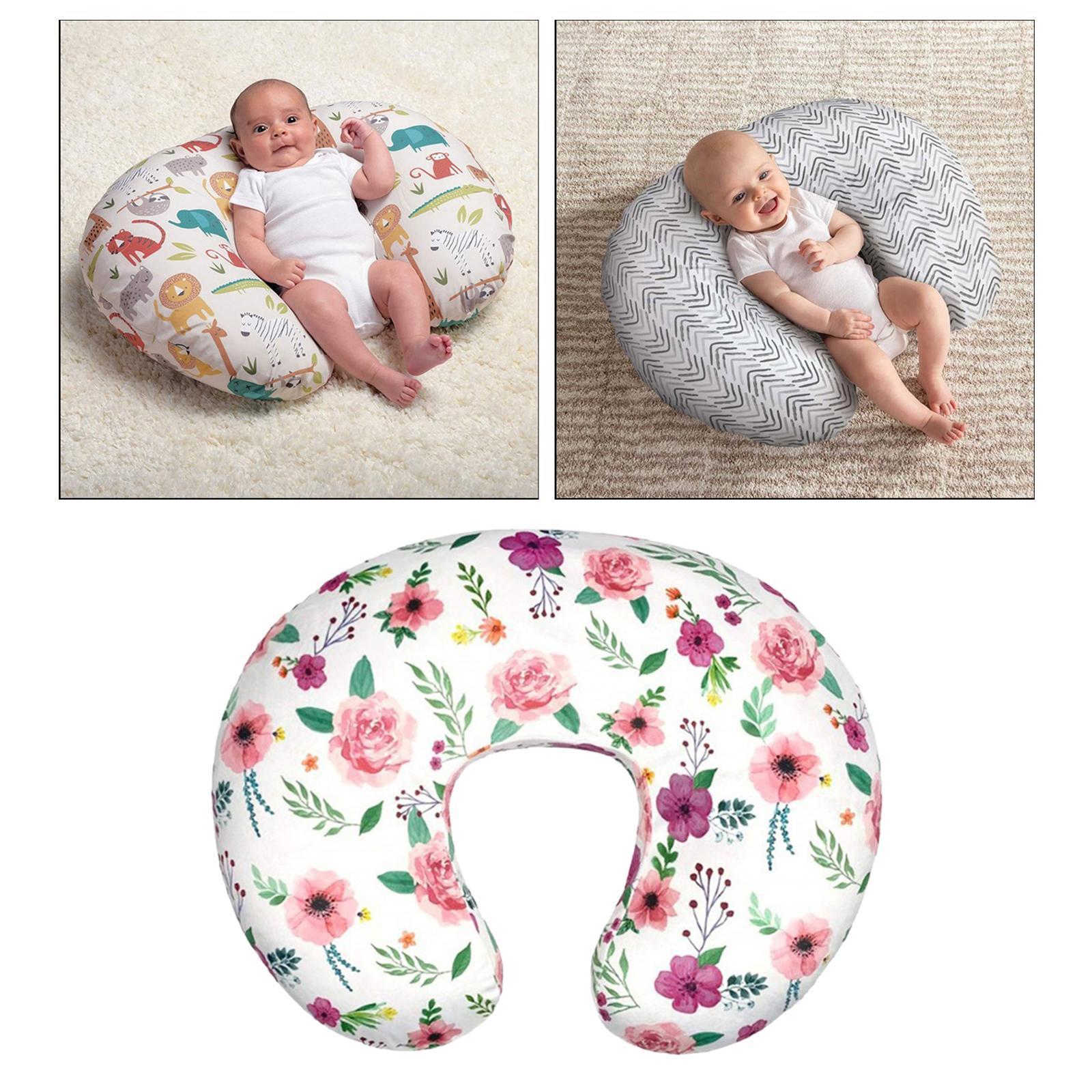 miniatura 11 - A Forma di U Del Bambino Cuscino Allattamento Cuscini di Cura per il Neonato