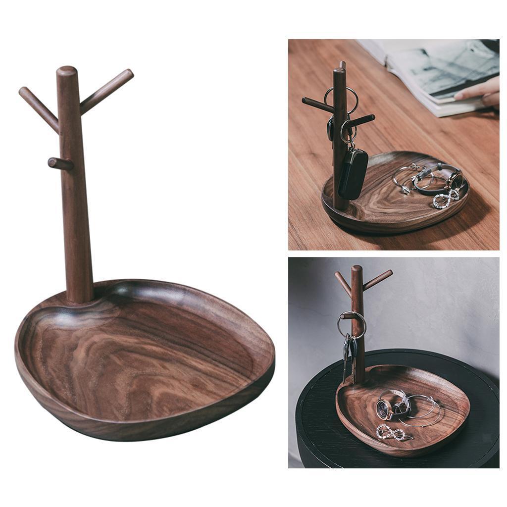 Indexbild 15 - Holz Schmuck Tablett Schmuckstück Halskette Halter Kleiderbügel Haken Uhr