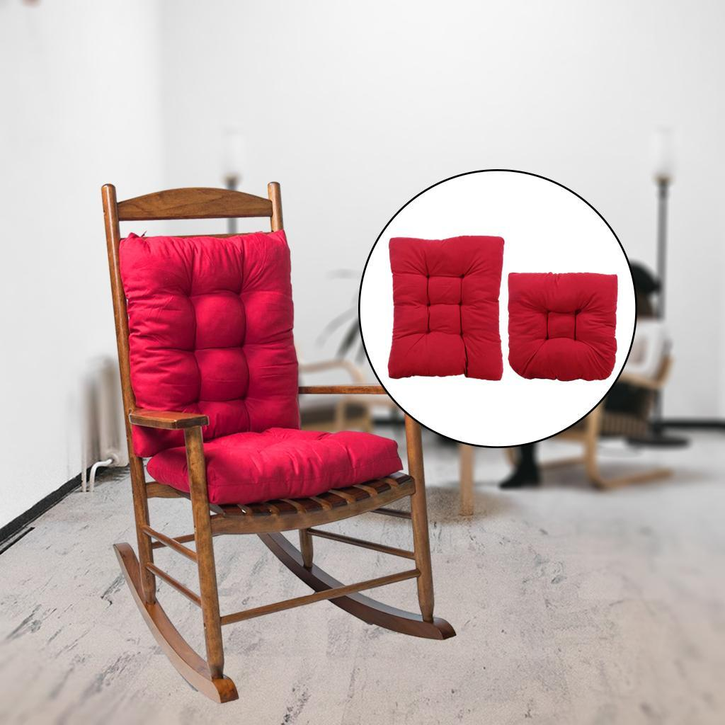 miniature 6 - Ensemble de coussins de chaise berçante inclinable avec attaches Jardin