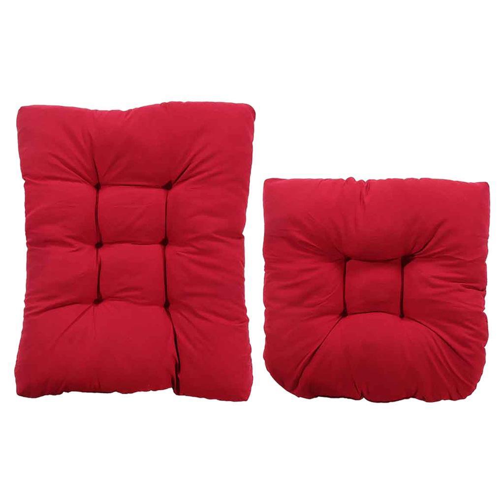 miniature 11 - Ensemble de coussins de chaise berçante inclinable avec attaches Jardin