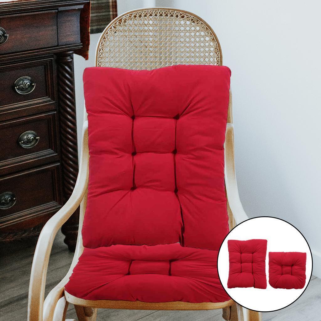 miniature 10 - Ensemble de coussins de chaise berçante inclinable avec attaches Jardin