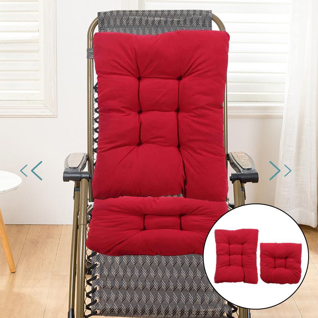 miniature 7 - Ensemble de coussins de chaise berçante inclinable avec attaches Jardin