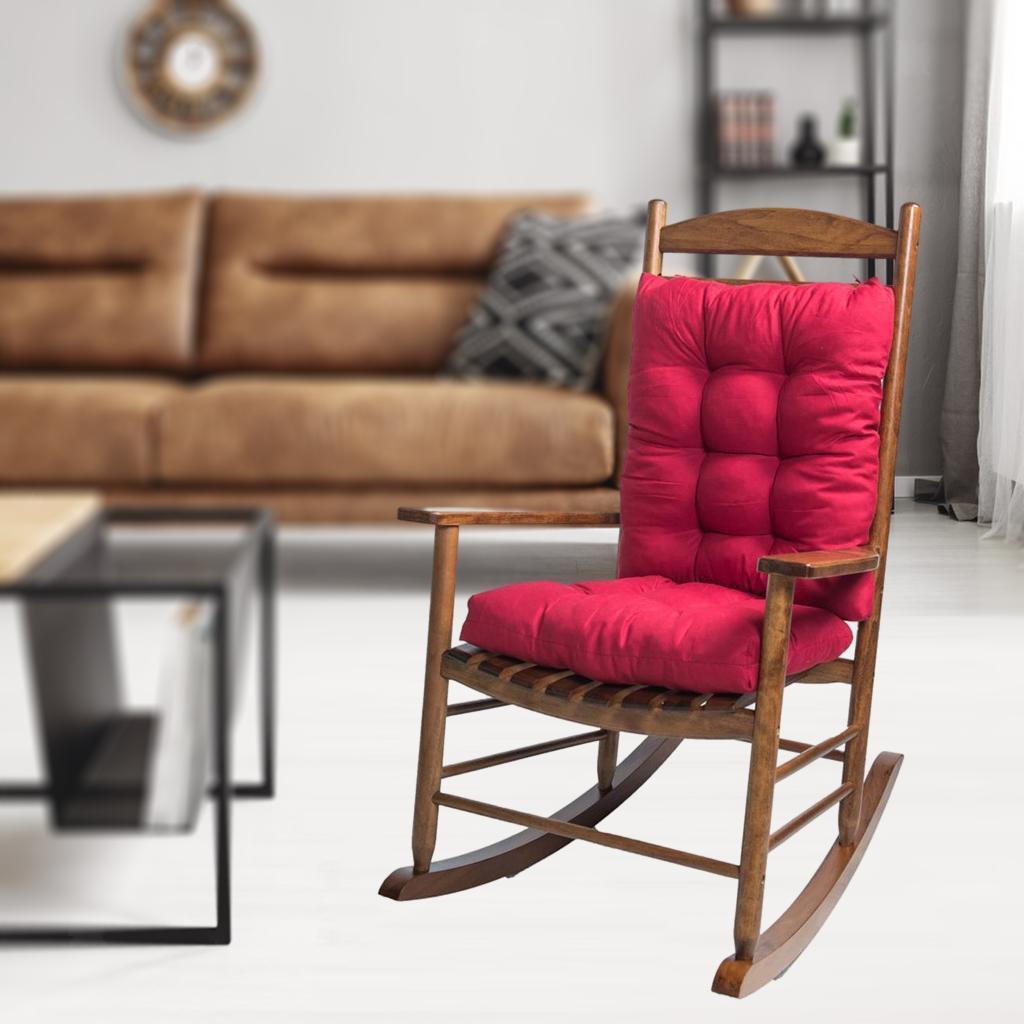 miniature 5 - Ensemble de coussins de chaise berçante inclinable avec attaches Jardin
