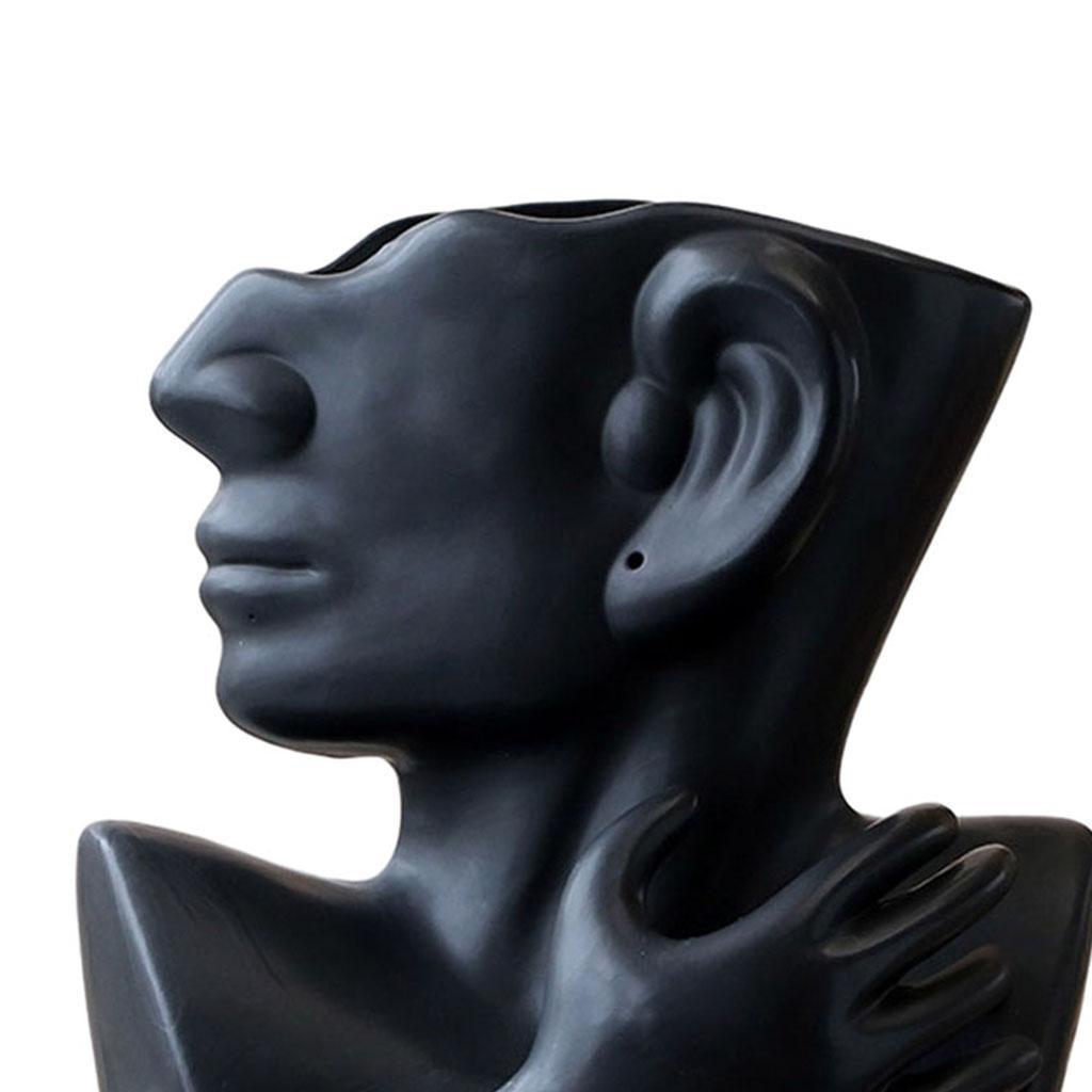 Indexbild 20 - Kreative Keramik Gesicht Vase Blumentöpfe Portrait Home Wohnzimmer