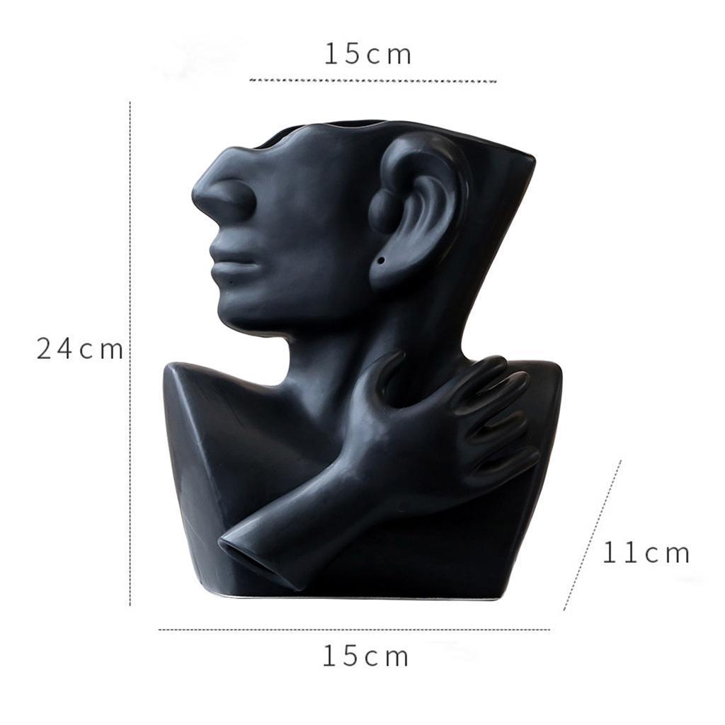 Indexbild 18 - Kreative Keramik Gesicht Vase Blumentöpfe Portrait Home Wohnzimmer