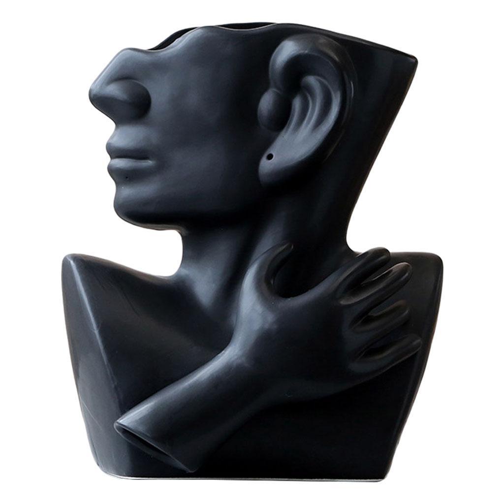 Indexbild 14 - Kreative Keramik Gesicht Vase Blumentöpfe Portrait Home Wohnzimmer