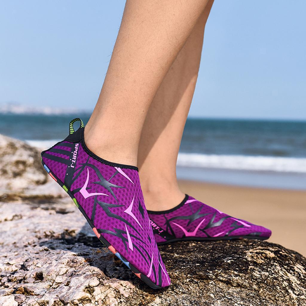 Women Men Water Shoes Diving Socks Aqua Socks Wetsuit Non-slip Swim Beach Sea