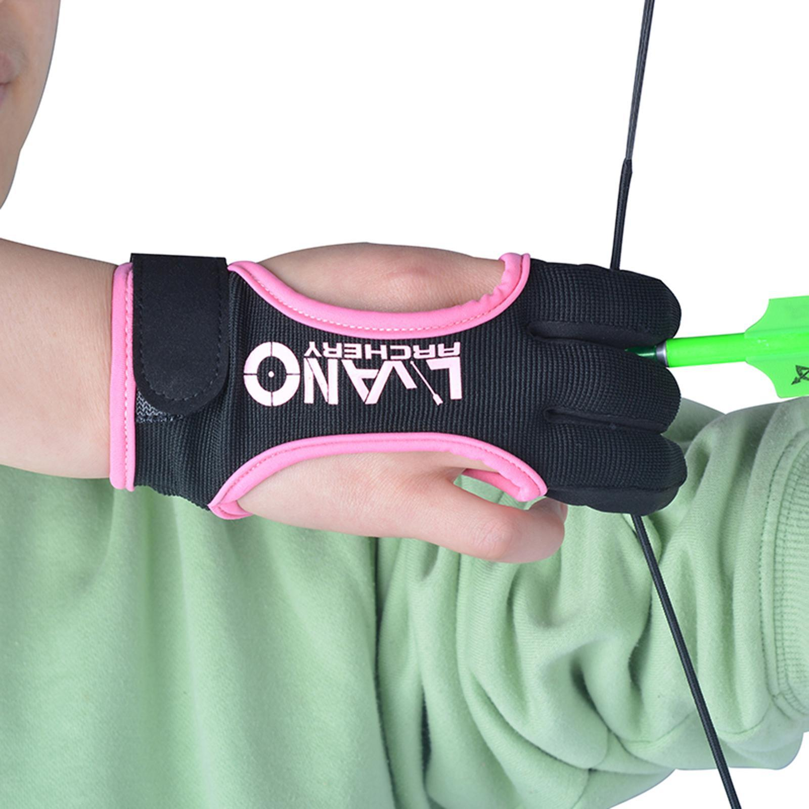 thumbnail 5 - Archery Glove for Recurve Compound Bow 3Finger Leather Guard for Women Men Youth