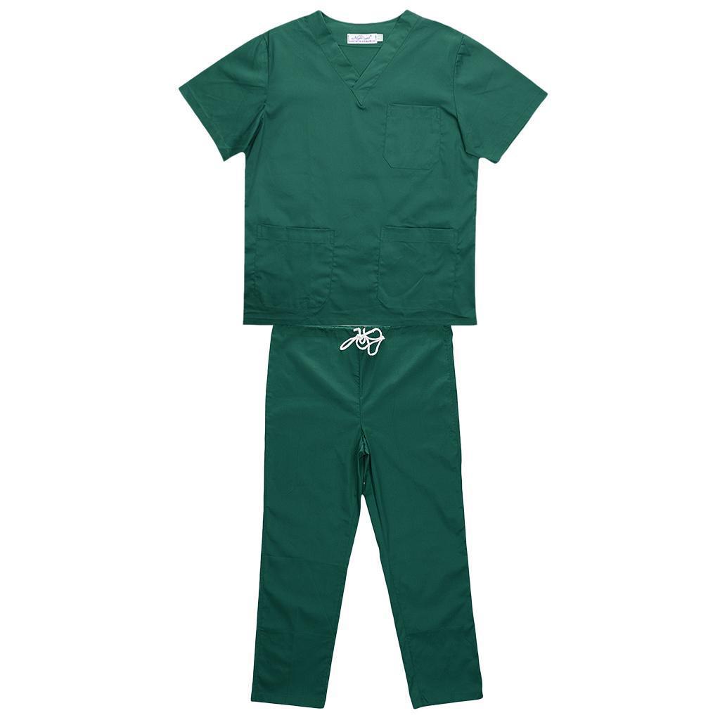 Men-Women-Scrub-Sets-Medical-Spa-Nursing-Clinic-Hospital-Uniform-Top-Pants miniature 61