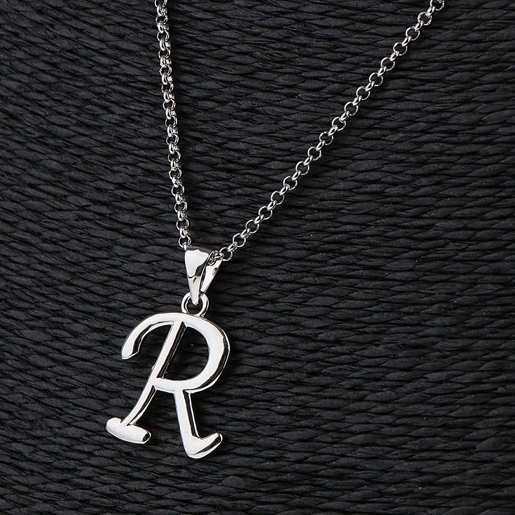 A-Z-Alphabet-Initial-Letter-Pendant-Necklace-Chain-Choker-Jewelry-Men-Women thumbnail 56
