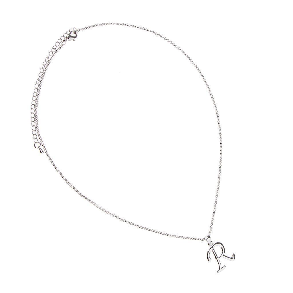 A-Z-Alphabet-Initial-Letter-Pendant-Necklace-Chain-Choker-Jewelry-Men-Women thumbnail 58
