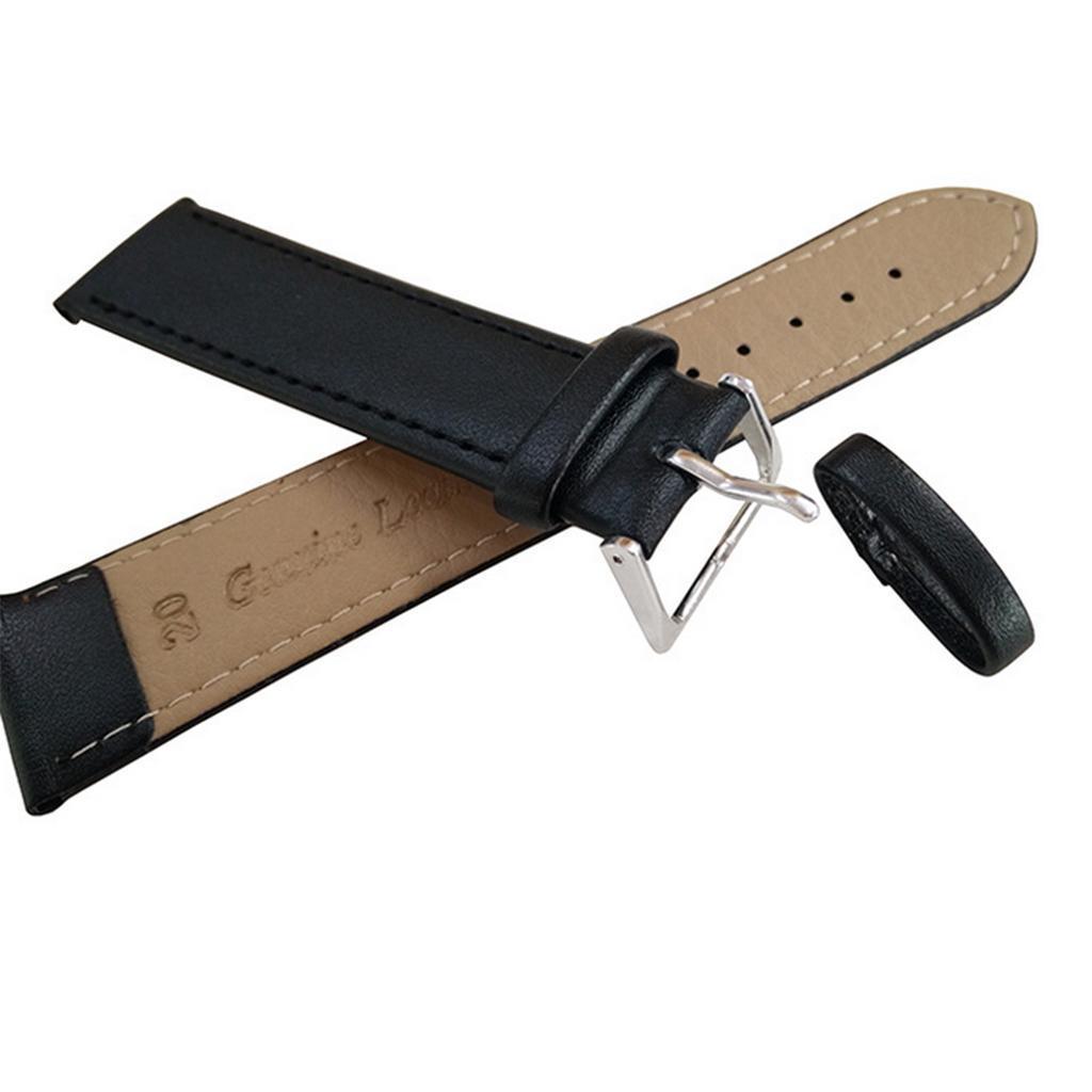 Pu Leder Armband Ersatz Unisex Armband Armband Gürtel 14mm 24mm
