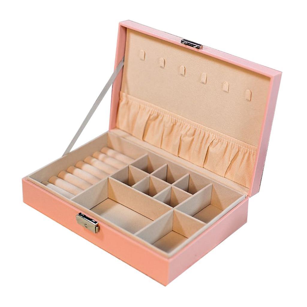 Boite-a-Bijoux-Boite-De-Bague-Multi-usages-Boucles-D-039-oreilles-Collier-Bijoux miniature 7