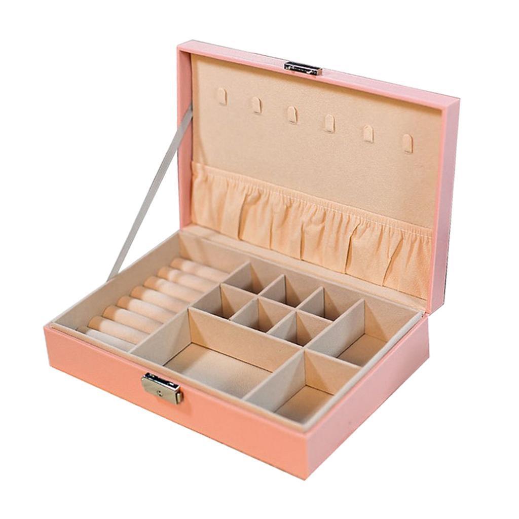 Boite-a-Bijoux-Boite-De-Bague-Multi-usages-Boucles-D-039-oreilles-Collier-Bijoux miniature 6