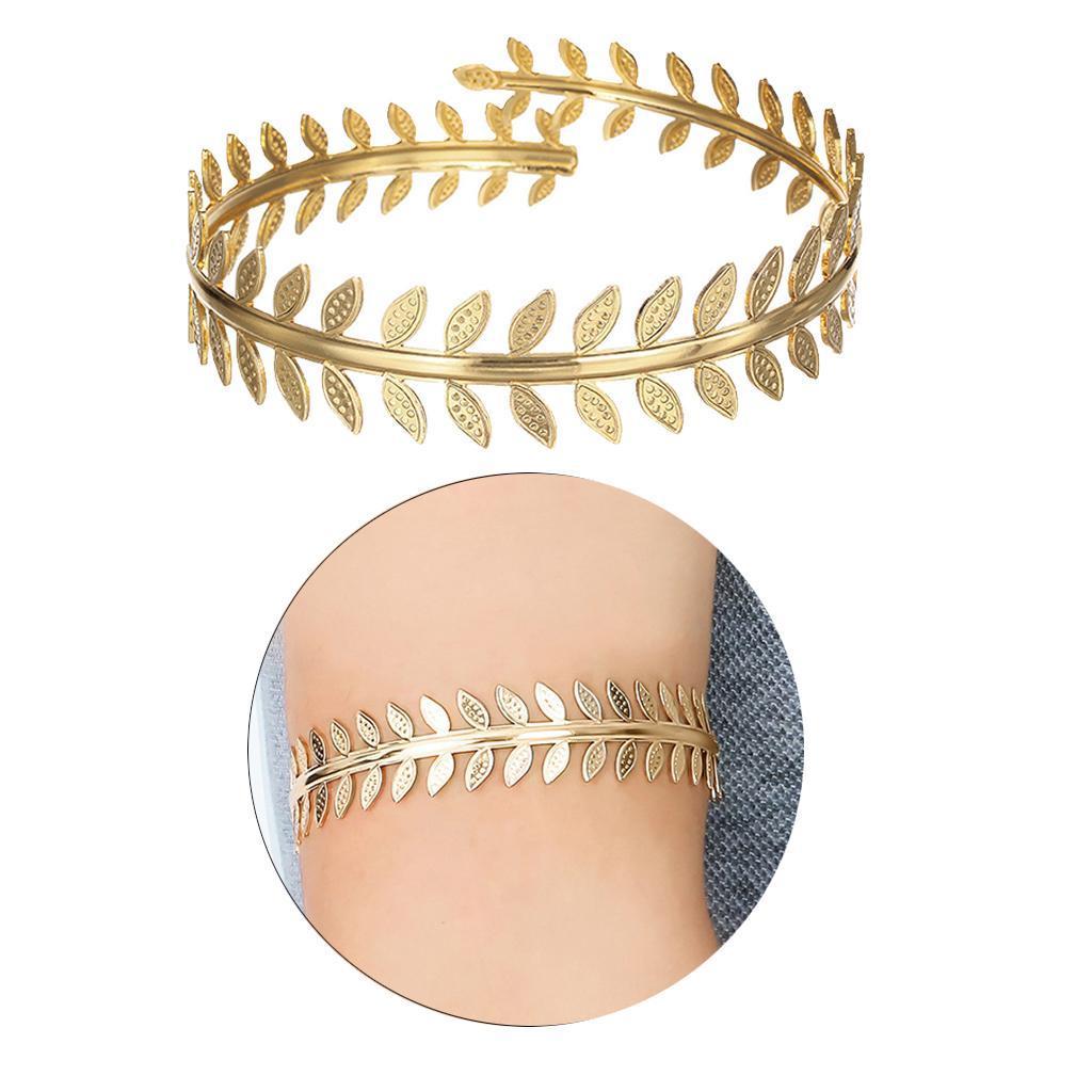 Indexbild 4 - Wirbelblatt Oberarm Ring Mädchen verstellbare Armband Armreif Manschette