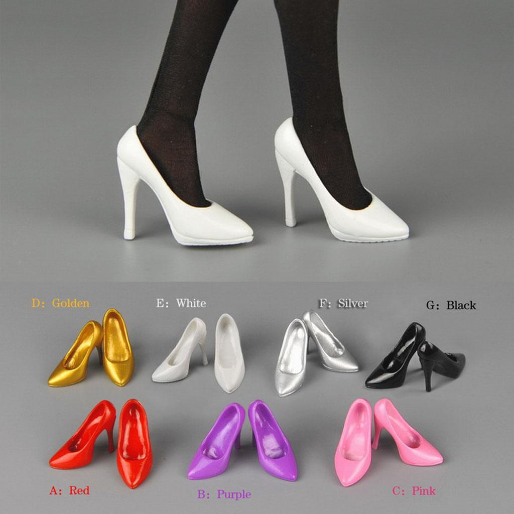 """1//6th Scale Pink plastic shoes For 12/"""" PHICEN Female Action Figure"""
